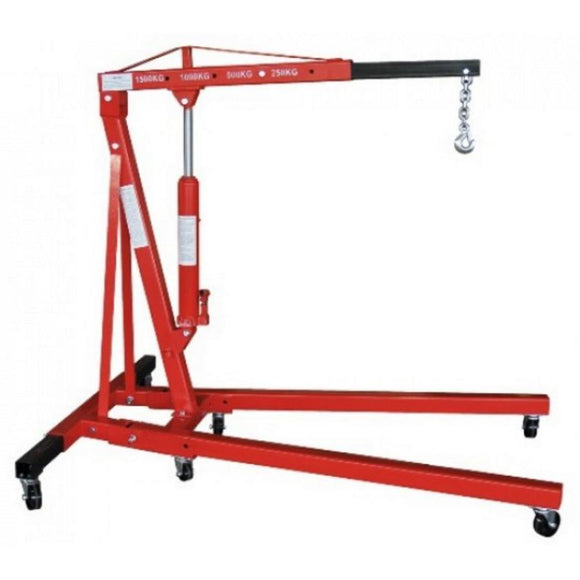 Millers Falls TWM Engine Crane 1500kg (1.65 Ton) Heavy Duty Hydraulic Foldable #CR2TFHD 1