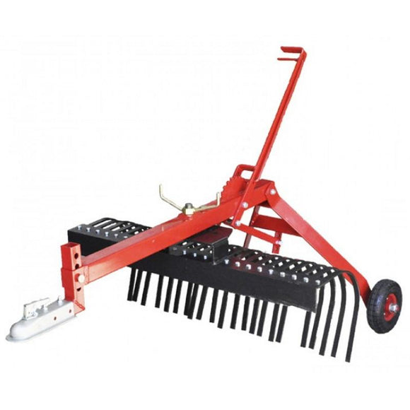 Millers Falls TWM 1200mm Towable Landscape Stick Hay Rake ATV Quad Bike Ride On Mower 4x4 #FILRATV4 1
