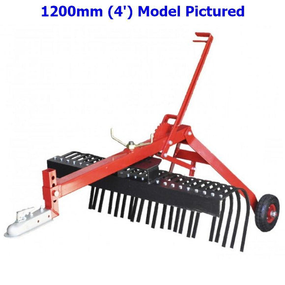 Millers Falls TWM 1800mm Towable Landscape Stick Hay Rake ATV Quad Bike Ride On Mower 4x4 #FILRATV6 1