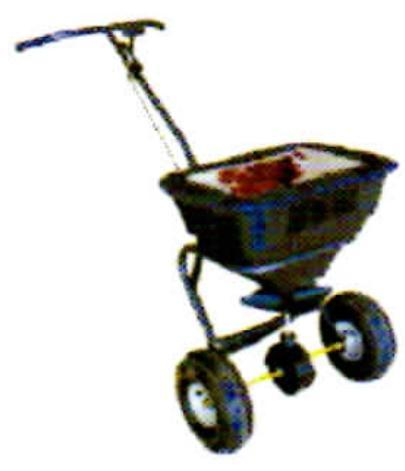 Millers Falls TWM Rotary Seed and Fertiliser Spreader 30kg Capacity Walk Behind ATV #FIS30WB 1