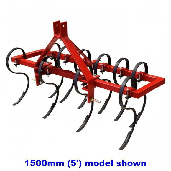 Millers Falls TWM S Tine Cultivator Plough 1200mm (4ft) Cat 1 3 Point Linkage Adjustable Offsettable #FISC4 1