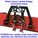 "Millers Falls TWM Rear Large Tractor Bucket 2000mm (6'6"") Wide 3 Point Linkage Hydraulic #FITB6HX 4"