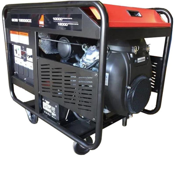 Millers Falls TWM Portable Generator 12kW 15kVA 24hp V-Twin Electric Start Petrol Engine #GENI18000CE 1