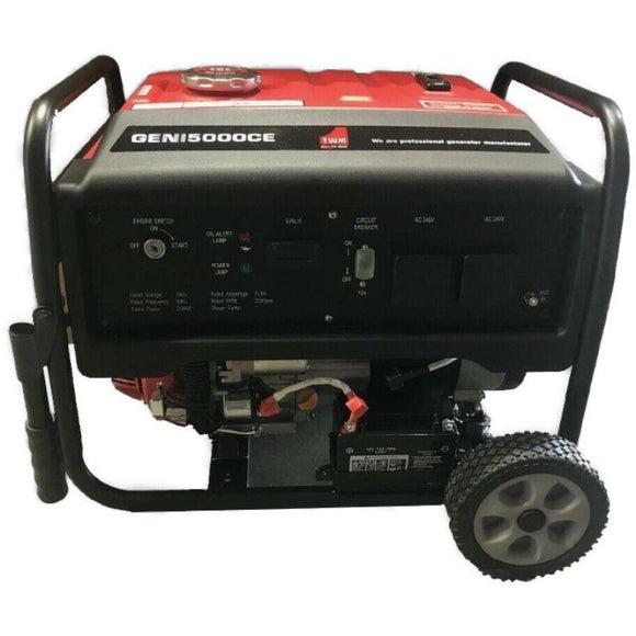 Millers Falls TWM Portable Generator 3.8kW 4.8kVA 7.5hp 223cc Electric Start Petrol Engine #GENI6000CE 1