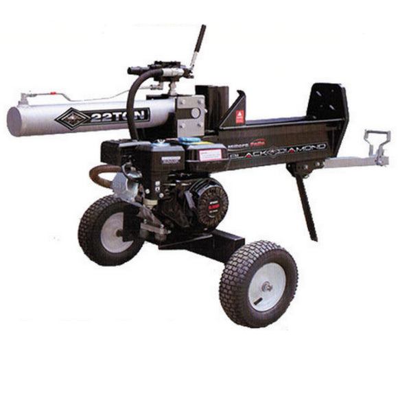 Hydraulic Log / Wood Splitter Millers Falls Black Diamond 22 Ton Electric (Key) Start #LS22ESBD 1