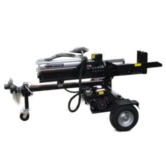 Millers Falls Black Diamond 30 Ton Manual Start Hydraulic Log Splitter with Jockey Wheel and Log Table #LS30JTTBD 1