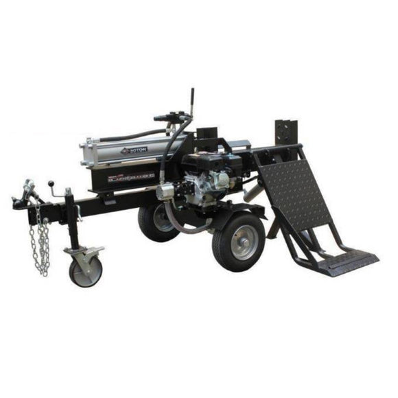 Millers Falls Black Diamond 30 Ton Manual Start Hydraulic Log Splitter with Jockey Wheel and Lifting Table #LS30LTBD 2