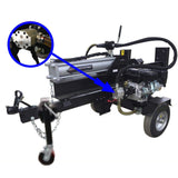 Millers Falls Black Diamond 30 Ton Manual Start Hydraulic Log Splitter with Jockey Wheel and Log Table #LS30JTTBD 7