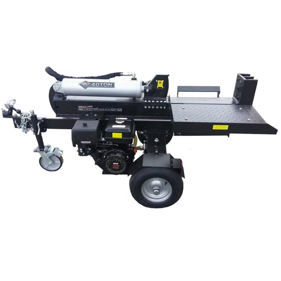 Millers Falls Black Diamond 40 Ton Electric Start Hydraulic Log Splitter with Jockey Wheel and Log Table #LS40ESBD 1