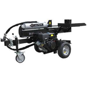 Millers Falls Black Diamond 45 Ton Electric Start Hydraulic Log Splitter with Jockey Wheel and Log Table #LS45ESBD 1