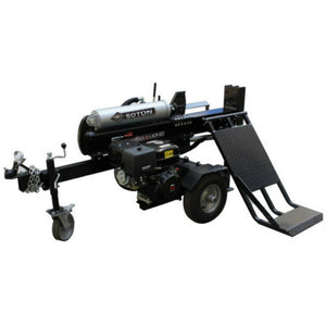 Millers Falls Black Diamond 50 Ton Manual Start Hydraulic Log Splitter with Jockey Wheel and Lifting Table #LS50LTBD 1