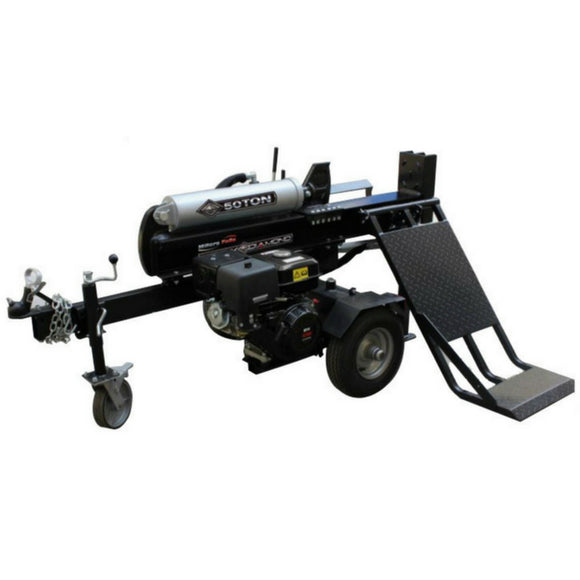 Millers Falls Black Diamond 50 Ton Electric Start Hydraulic Log Splitter with Jockey Wheel and Lifting Table #LS50LTESBD 1