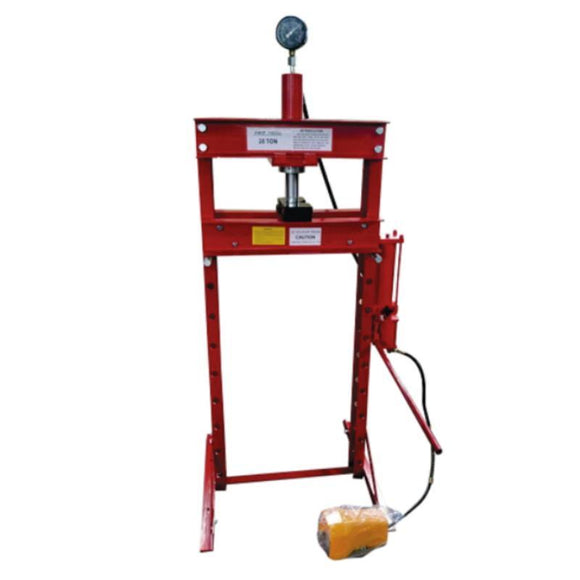 TWM Millers Falls 20 Ton HD Air Hydraulic Shop Press with Foot Valve and Sliding Head #PRESALR20T 1