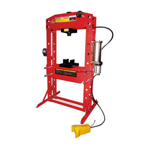 TWM Millers Falls 50 Ton HD Air Hydraulic Shop Press with Foot Valve and Sliding Head #PRESALR50T 1