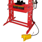 TWM Millers Falls 50 Ton HD Air Hydraulic Shop Press with Foot Valve and Sliding Head #PRESALR50T 4