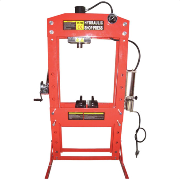 TWM Millers Falls 75 Ton HD Air Hydraulic Shop Press Light Duty #PRESS75TA 1