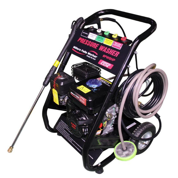 Millers Falls TWM PW8HP 3000psi Petrol Engine Pressure Washer Cleaner on Trolley 1