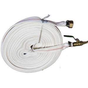 Millers Falls TWM 30m Fire Fighting Pump Bushfire Hose Canvas Brass Fittings #QWFK30MC 1