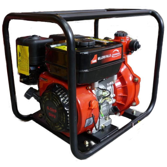 Millers Falls TWM Electric Start 6.5HP Petrol Firefighting Pump Twin Impeller Portable 3 Hose Outlets #QWPFT6515ES-eu 1