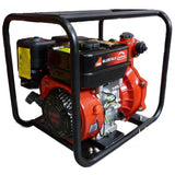 "Millers Falls TWM 6.5HP Petrol 1.5"" Firefighting Pump Twin Impeller Portable 3 Hose Outlets #QWPFT6515-eu 1"