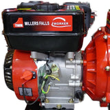 Millers Falls TWM Electric Start 6.5HP Petrol Firefighting Pump Twin Impeller Portable 3 Hose Outlets #QWPFT6515ES-eu 8