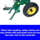 700mm Log / Wood Swing Saw Towable Millers Falls 13HP Petrol Manual Start #SCLC13PTOW 2