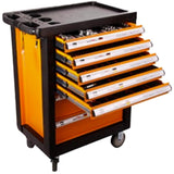 KrafTWelle TBW7D 7 Drawer Tool Cart with 200 Piece SAE and Metric Tool Set 1