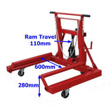 Millers Falls TWM VP81TD 750kg (1650lb) Heavy Commercial Dual or Single Truck Wheel Dolly 7