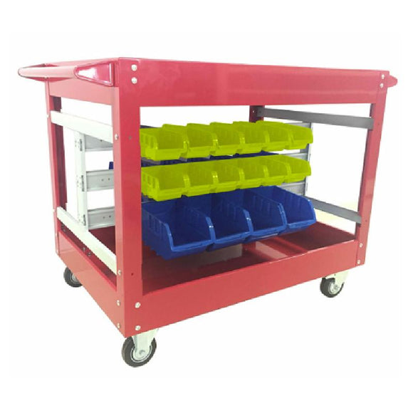 Millers Falls TWM WH7016 Service Trolley with 32 bins for Nuts, Bolts, Screws, etc. for Workshop or Garage 1