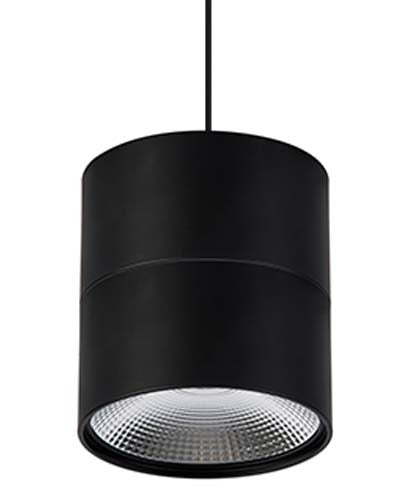 Matt Black LED Round Large Pendant - Havit