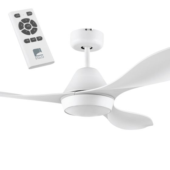 "Eglo Nevis 52"" DC ABS 3 Blade Ceiling Fan with 18W LED and Remote Control"