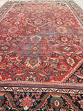 10'10 x 17'3 Oversize Antique Persian Mahal Rug / Large 11x17 vintage rug