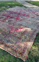 10'7 x 14'10 Worn to Perfection Oversize Persian Kerman