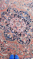 8'5 x 11'4 Sun-kissed Heriz Rug
