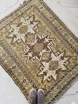 3'10 x 4'7 Antique Caucasian Rug