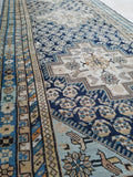 3'4 x 8'7 Ivory n Blue NW Persian Runner