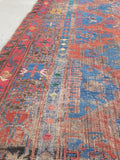 7'5 x 12'5 antique Soumak flat -weave rug