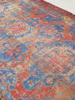 7'5 x 12'5 antique Soumak flat weave rug