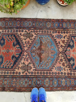 3'7 x 5'11 Antique Persian Malayer