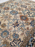 4'2 x 5'11 Ivory/Sand antique Persian Malayer
