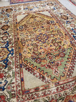 4'2 x 6'6 Antique Persian Sultanabad Mahal