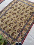 4'7 x 6'8 vintage Qum rug with paisleys