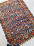 3'6 x 5'2 antique Kurdish Rug