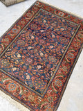 3'6 x 5'2 antique Kurdish Rug (#480)
