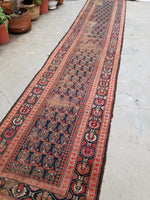 3'2 x 15'7 Antique Kurdish Runner #489