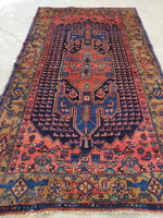 4'5 x 7'8 Bibikabad Rug / Small Antique Rug