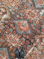 8'4 x 10'8 Antique Persian Heriz Rug