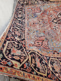 9'3 x 12'10 Love Worn Antique Persian Heriz (#1070) / 9x13 large vintage rug