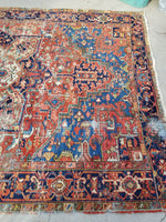 6'10 x 10 Antique Persian Heriz / Large Antique Heriz / 7x10 Rug (#1071)
