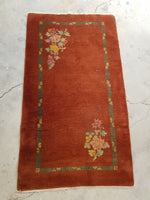 3 x 5'2 Antique 1920s Chinese Rug  (#1297)